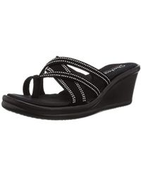 0eb60e742ebc84 Skechers - Rumblers-cali Spell-studded Multi Strap Slide With Memory Foam  Wedge Sandal
