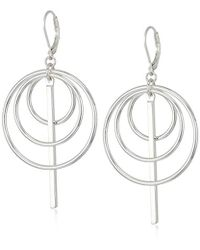 Nine West - Silver-tone Orbital Drop Earrings - Lyst