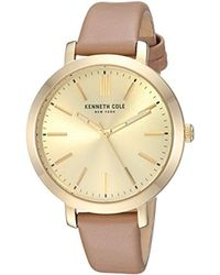 Kenneth Cole - New York Quartz Stainless Steel And Leather Casual Watch - Lyst