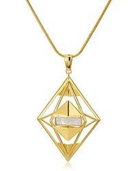 Noir Jewelry - Phoenix Pendant Necklace - Lyst