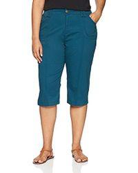Lee Jeans - Plus-size Relaxed Fit Lyric Knit Waist Cargo Capri Pant, - Lyst