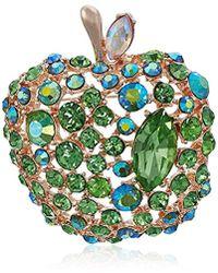 Betsey Johnson - S Green Apple Pin - Lyst