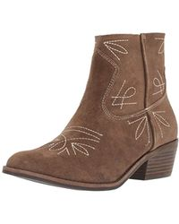 909ac5f861a2c6 Lucky Brand - Floriniah Suede Bootie - Lyst