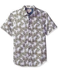 Original Penguin - Short Palm Printed Shirt With Cuffed Sleeve - Lyst