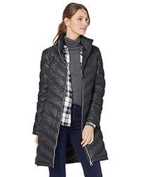 Calvin Klein - Chevron-quilted Packable Down Coat - Lyst
