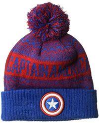 8604b60e2d0 KTZ - Cap Young Captain America Wintry Pom Knit Beanie Hat