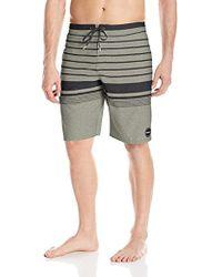 25411b1c21 AllSaints Morlan Swim Shorts in Gray for Men - Lyst