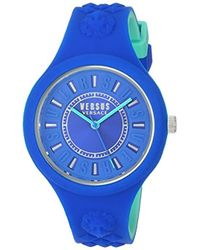 Versus - 'fire Island Bicolor' Quartz Stainless Steel And Silicone Watch, Color:two Tone (model: Vspoq2618) - Lyst