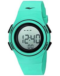 Everlast - 'heart Rate Monitor' Automatic Plastic And Rubber Fitness Watch, Color:green (model: Evwhr006tq) - Lyst