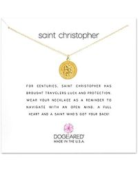 "Dogeared - Saint Christopher Necklace Saint Christopher, 18"" - Lyst"