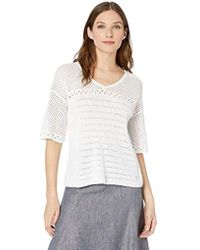 c70e321016bd1 Michael Stars - Mesh Knit Lexi Elbow Sleeve V-neck Sweater - Lyst