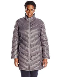 Calvin Klein Plus-size Chevron-quilted Packable Down Coat
