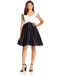 Adrianna Papell - Tafetta Fit And Flare Petite - Lyst
