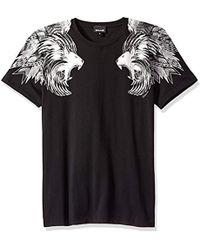 Just Cavalli - Lion Shoulder Tee - Lyst