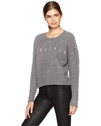 Guess - Long Sleeve Grommet Ring Ribbed Mix Sweater - Lyst