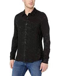 Guess Long Sleeve Guardian Floral 1 Pocket Shirt