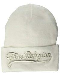 True Religion - Tr Script Watchcap - Lyst