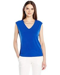 Calvin Klein - Sleeveless Top With Chain Necklace - Lyst
