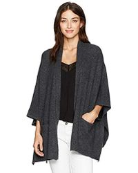 Michael Stars - Cozy Knit Cape With Pockets - Lyst