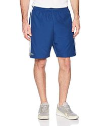 Lacoste - Taffeta Diamond Short With Side Colorblock Detail, Gh314t - Lyst
