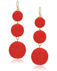 Kenneth Jay Lane - Thread Wrapped Ball Drop Earrings - Lyst