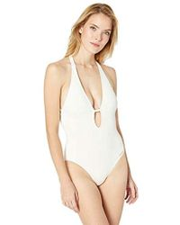 Vince Camuto - Plunging V-neck One-piece Swimsuit W/removable Soft Cups - Lyst