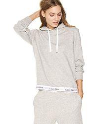 1c6aeedfb23b2 Lyst - Calvin Klein Modern Cotton Sleeveless Hoodie in White