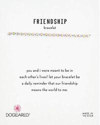 Dogeared - S Gold Lav Friendship Bracelet, 9 - Lyst