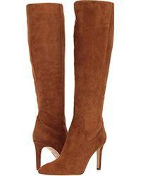 92fdf302c50 Lyst - Sam Edelman  olencia  Suede Knee High Boots in Brown