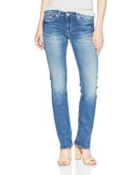 Tommy Hilfiger - Straight Leg Sandy Mid Rise Jeans - Lyst