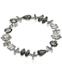 Kenneth Cole - Stone Cluster Metallic Mixed Metallic Faceted Stone Bracelet - Lyst