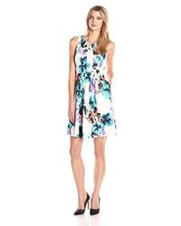 Ivanka Trump - Floral Fit-and-flare Dress - Lyst