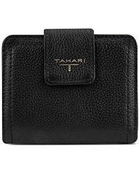 Tahari Womens Small Tab Wallet - Black