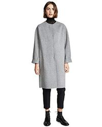 Theory - Rounded Coat, - Lyst
