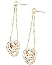 Kenneth Cole - New York Multi-tone Hoop Drop Earring - - Lyst