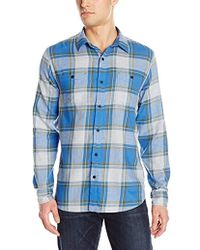 Lucky Brand - Mason Work Wear Shirt In Blue Plaid - Lyst
