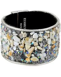 Kenneth Cole - Power Of The Flower Mother Of Pearl Chip And Silver Bracelet - Lyst