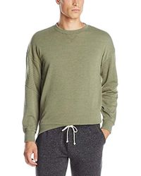Alternative Apparel - Light French Terry Quilted Crew Neck Sweatshirt - Lyst