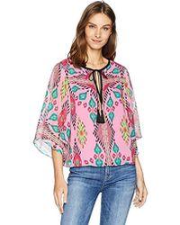 7d850921c802f9 Lyst - Nanette Lepore Mayaguana Tie-neck Silk Top in Pink