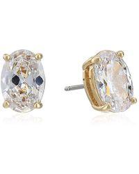 Kate Spade - S Oval Stud Earrings, Clear/gold - Lyst
