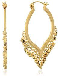 Satya Jewelry - Chandelier Lotus Hoop Earrings - Lyst