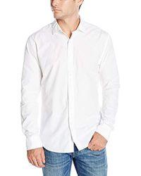 DL1961 - 73rd & Park Regular Fit Button Down Shirt, White - Lyst
