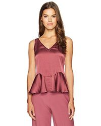 7aacaf09efc19d Lyst - Rebecca Taylor Embellished Draped Silk Top in Natural