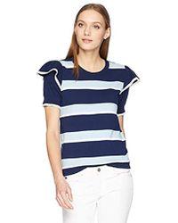 Parker - Maren Short Sleeve Striped Sweater - Lyst