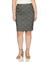 Kasper - Plus Size Woven Jacquard Slim Skirt - Lyst
