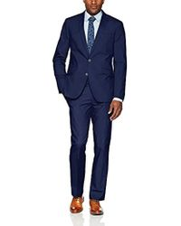 Kenneth Cole Reaction - Light Weight Cotton Suit With Hemmed Pant - Lyst