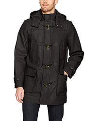 Nautica - Hooded Wool Toggle Coat - Lyst