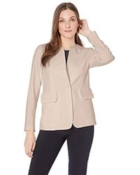Nine West - 1 Button Jewel Collar Kiss Front Stretch Jacket - Lyst
