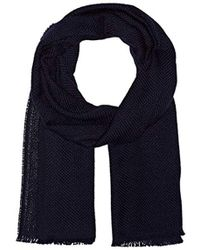 BOSS - Canno Knitted Wool Scarf, - Lyst