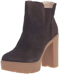 915384cf89e Lyst - Nine West Nicoh Women Round Toe Suede Knee High Boot in Brown